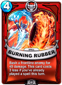 Burning Rubbercard