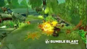 Meet the Skylanders LightCore Bumble Blast