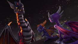 Malefor Cynder Spyro Academy2