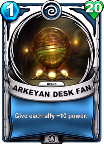 Arkeyan Desk Fan - Reliccard