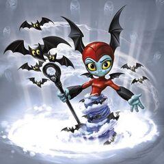Antigua imagen oficial de Bat Spin con diferente color en su tornado de murcielagos
