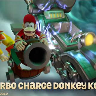 Diddy Kong en el Barrel Blaster al entrar en el portal