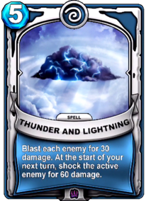 Thunder and Lightningcard