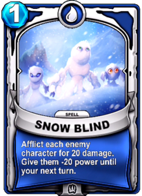 Snow Blindcard