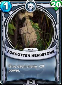 Forgotten Headstone - Reliquiacard