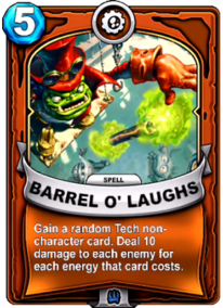 Barrel o' Laughscard