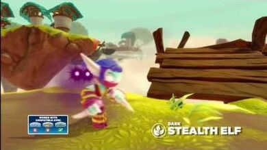 Skylanders Swap Force - Meet the Skylanders - Dark Stealth Elf (Silent but Deadly)