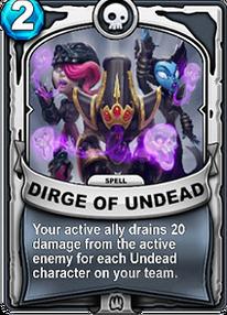 Dirge of Undeadcard