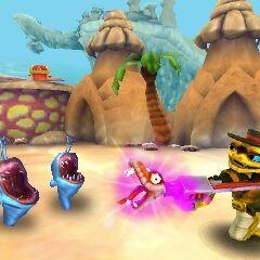 Los Chompies devuelta a su aspecto original en la versión 3DS de Swap Force