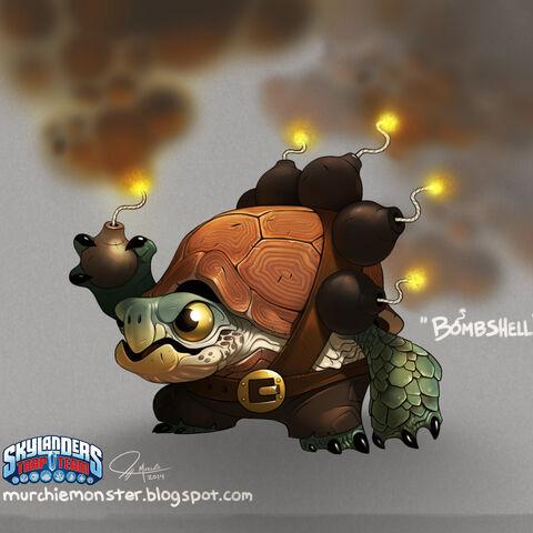 Concepto de Bomb Shell sin su casco