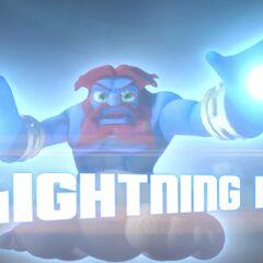 Lightning Rod en su trailer