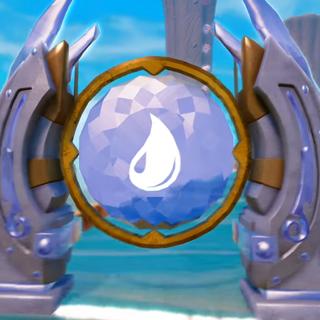 Puerta elemental de Agua en <i>Trap Team'</i>
