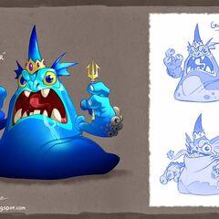 Diseño final del Gulper más otros bocetos del concepto