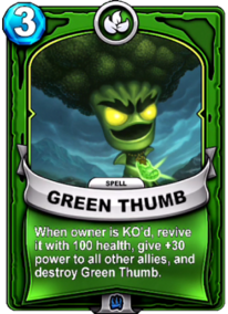 Green Thumb - Engranecard