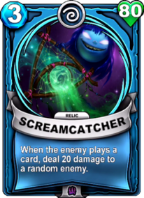 Screamcatcher - Reliquiacard