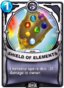Shield of Elements - Gearcard