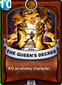 The Queen's Decreecard