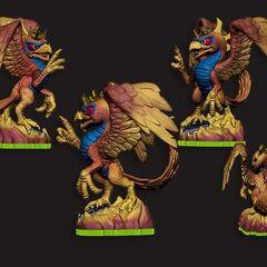 Diseños de figura prototipo de Sunburn de Spyro's Kingdom