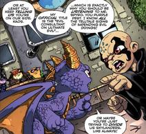 Spyro y Kaos en comic