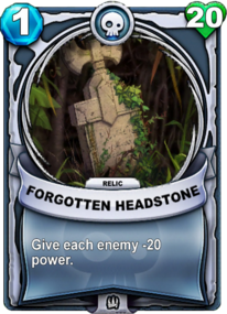 Forgotten Headstone - Reliccard
