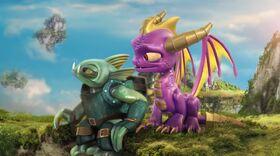 Spyro and Gill Grunt