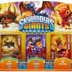 Bash serie 2 en triple paquete junto con Spyro serie 2 y Hot Dog serie 1