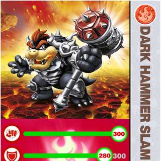 Carta de Dark Hammer Slam Bowser