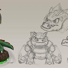 Bocetos de Dino-Rang