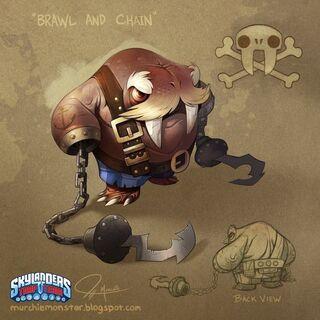 Concepto del diseño final de Brawl & Chain