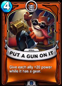 Put A Gun On Itcard