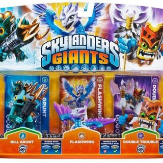 Triple paquete de Gill Grunt serie 2, Flashwing y Doble Trouble serie 2