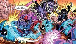 Spitfire Stormblade y Nightfall en comic
