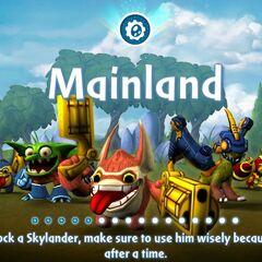 Los skylanders de tecnologia de Spyro`s Adventure en la pantalla de carga de Skylanders: Universe