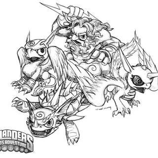 Dibujo de los skylanders de Aire en Spyro`s Adventure