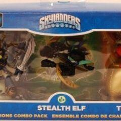 Twin Blade Chop Chop en paquete combo de Champions junto a Ninja Stealth Elf y Big Bang Trigger Happy