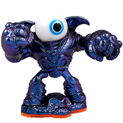 Figura de Eye-Brawl de color metalico