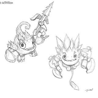 Otros bocetos, dándole una apariencia cerca al diseño final, pero con algunas diferencias y armas distintas.