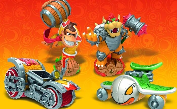 5 - Superchargers - poster 4 - Bowser And Donkey Kong Skylanders