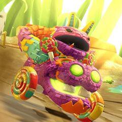 Pain-Yatta en su vehículo asignado en <a href=