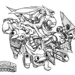Dibujo de los skylanders de tecnologia de Spyro`s Adventure