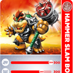 Carta de Hammer Slam Bowser