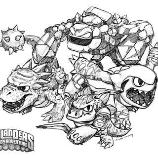 Dibujo de los skylanders de tierra de Spyro`s Adventure