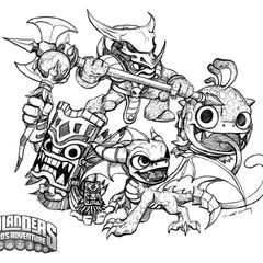 Dibujo de los skylanders de magia de Spyro`s Adventure