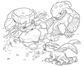 Sonic Boom Rocky y Terrafin