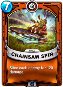 Chainsaw Spincard