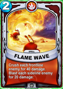 Flame Wavecard
