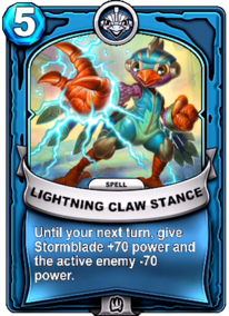 Lightning Claw Stancecard