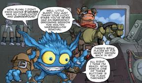 Pop Fizz y Flynn en comic