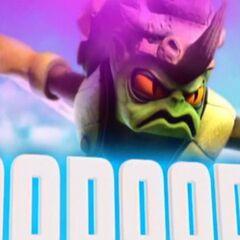 Voodood en su trailer en Giants