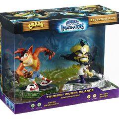 Paquete de aventuras de La Ruidosa Isla Wumpa con Crash Bandicoot y el Dr. Neo Cortex